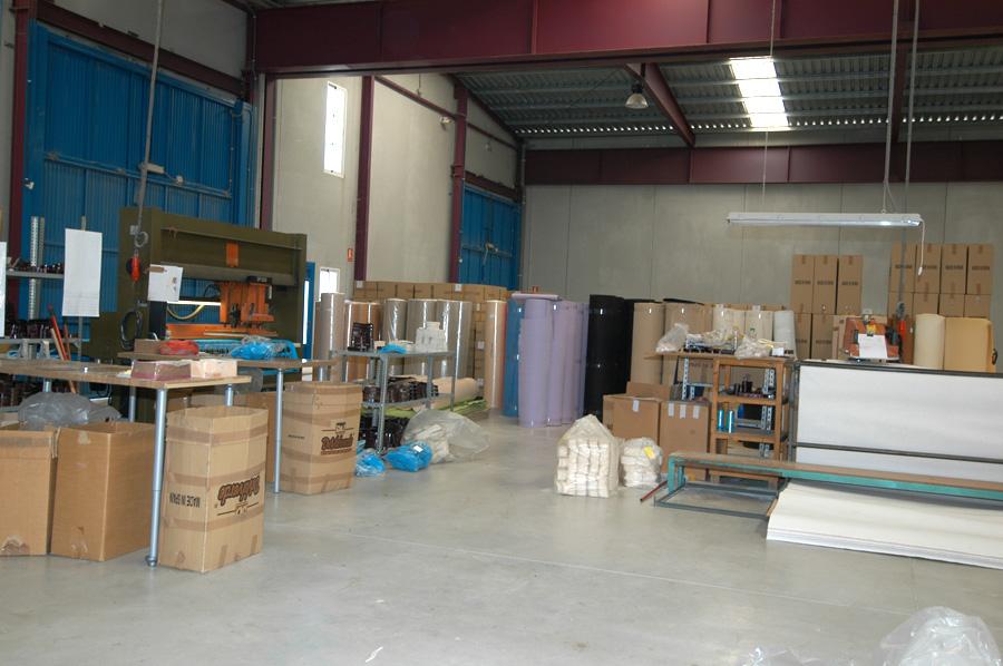 Sección de almacenaje de materia prima