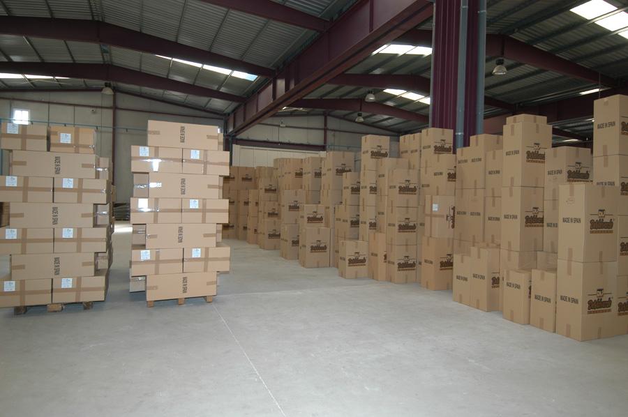 Sección de envasado y almacenaje